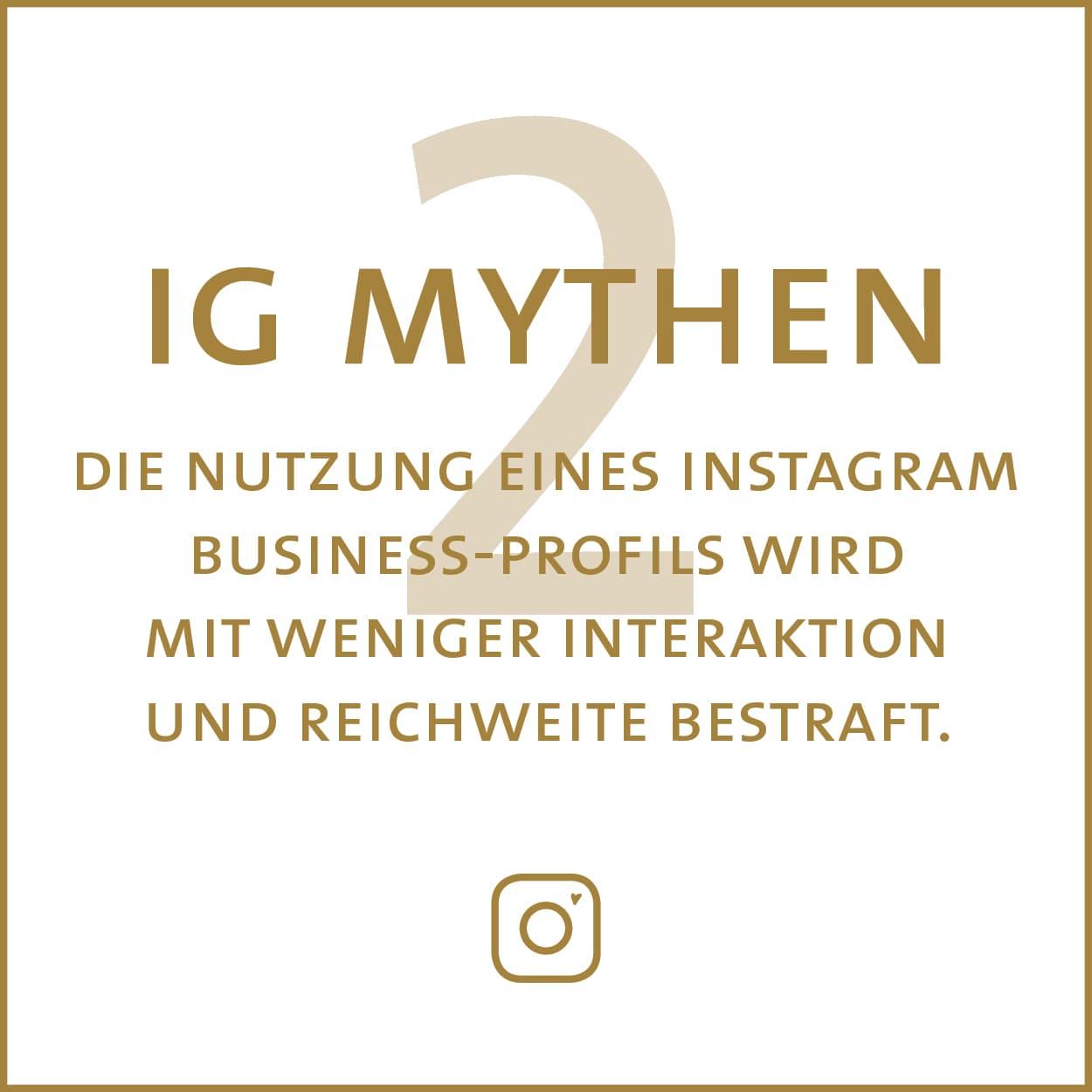 Mythbusting: Die Nutzung eines Instagram Business Profils wird mit weniger Reichweite bestraft