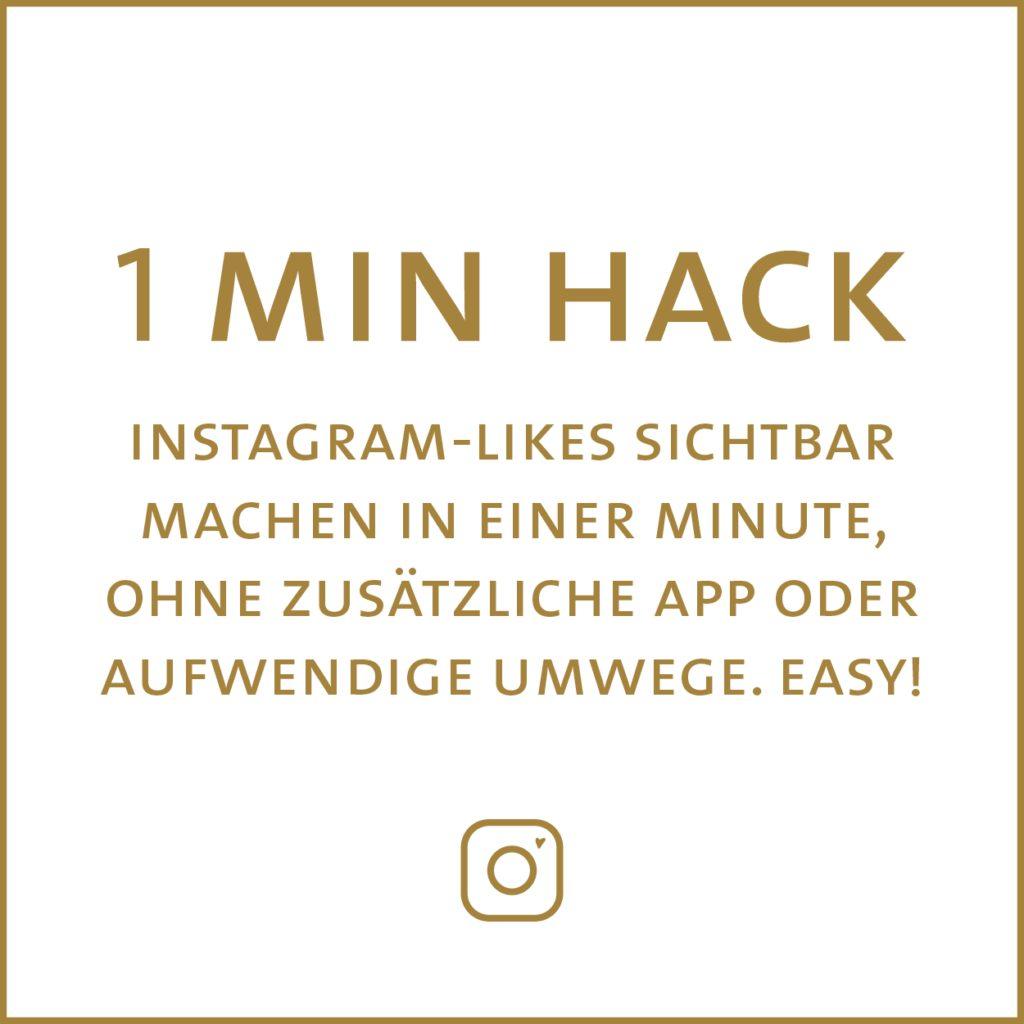 Instagram-Likes sichtbar machen in einer Minute